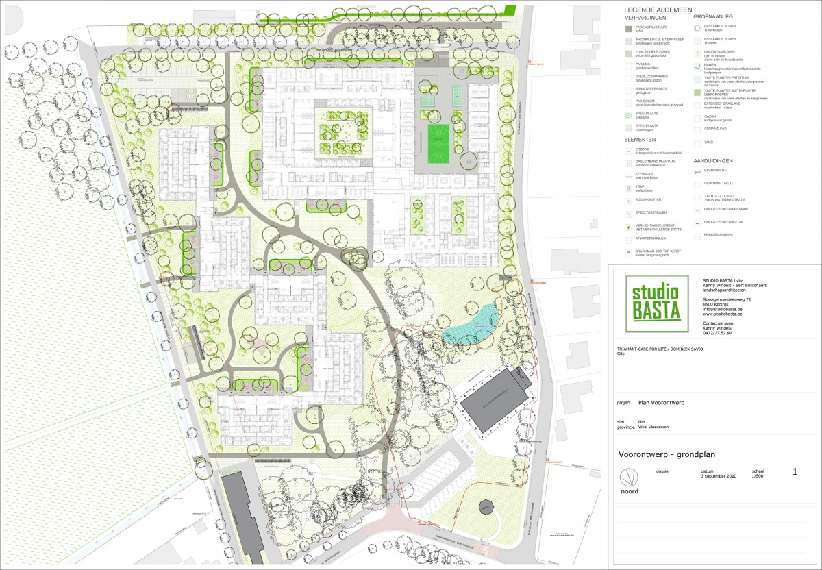 Groenplan Project site Withuys - oktober 2020